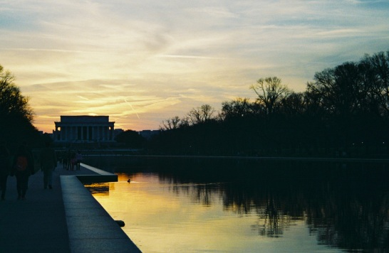 15 lincoln memorial sunset pentax k1000