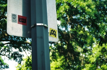 07 washington dc pentax k1000 space invader sticker