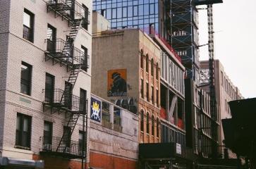 38 new york city space invader street art pentax k1000