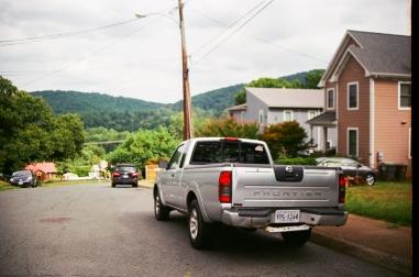 54 silver bullet truck blue ridge mountains charlottesville virginia pentax k1000