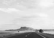 37 new mexico highway black & white